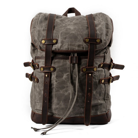 BLAKE - ADVENTURE WAXED CANVAS BACKPACK - CELADON