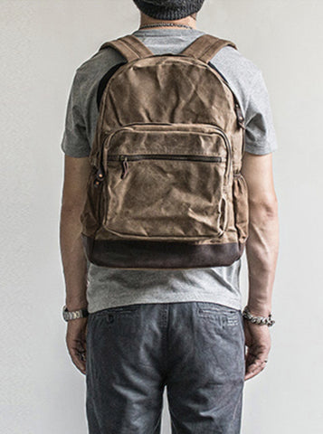 VINTAGE WAXED CANVAS BACKPACK NO.57