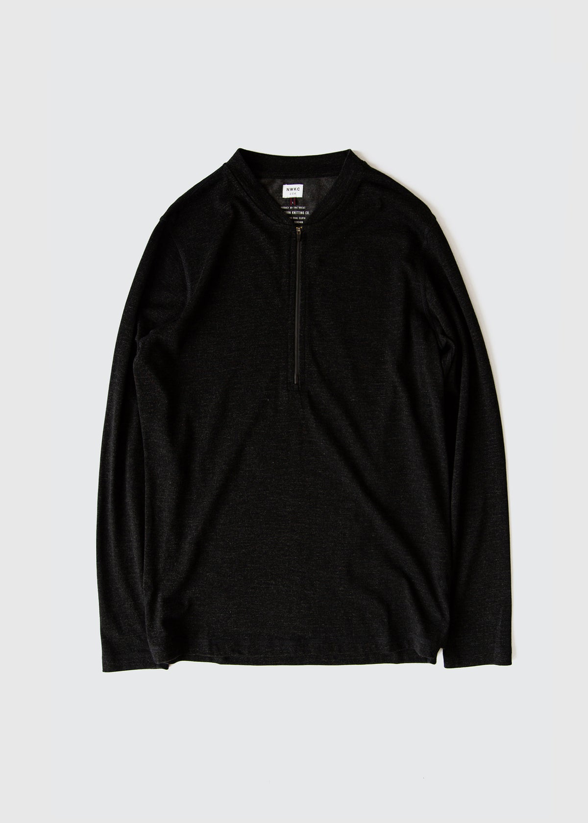106 - 1/3 ZIP VARSITY - BLACK - Wilson & Willy's - MPLS Neighbor Goods