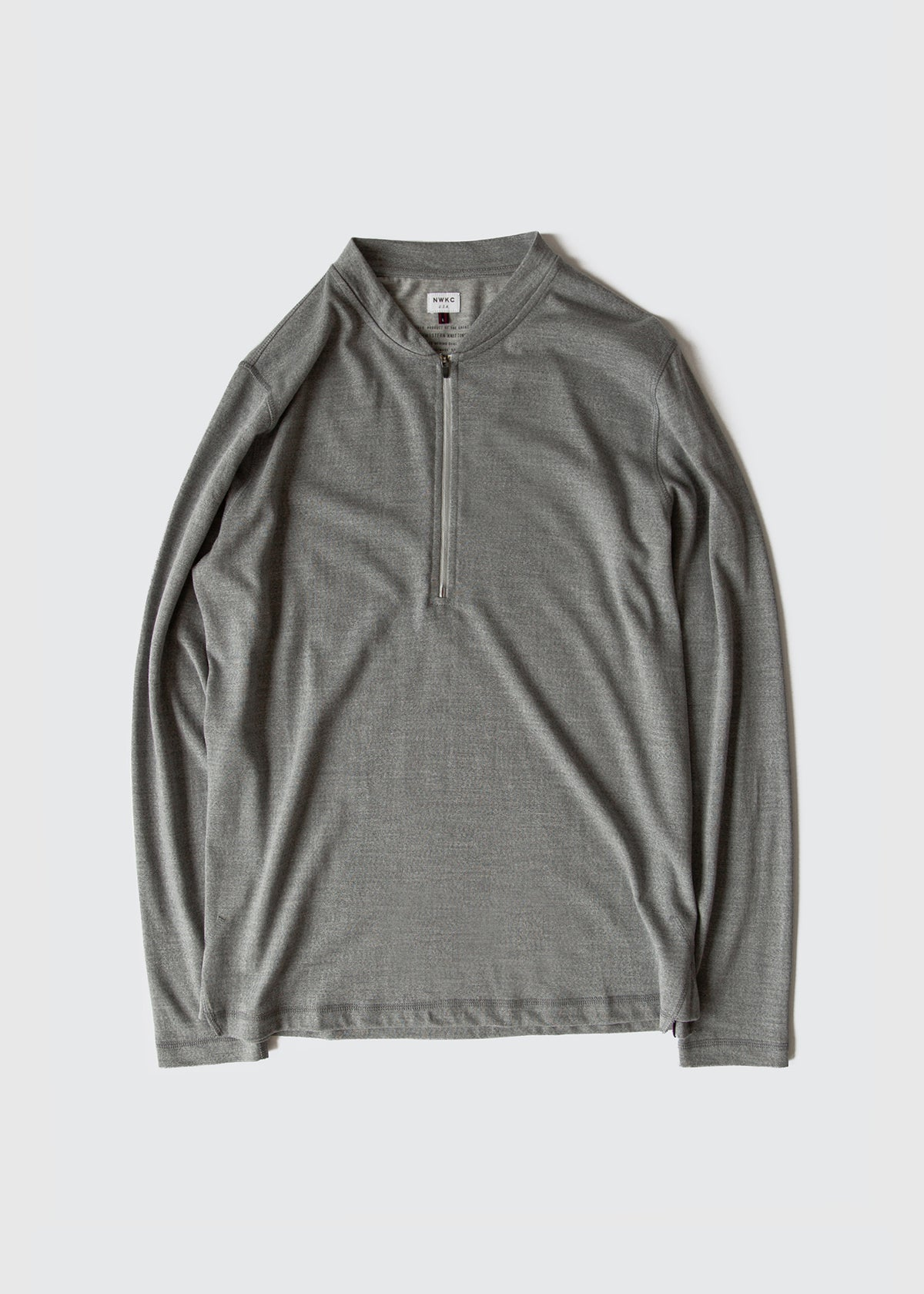 106 - 1/3 ZIP VARSITY - GRAY - Wilson & Willy's - MPLS Neighbor Goods