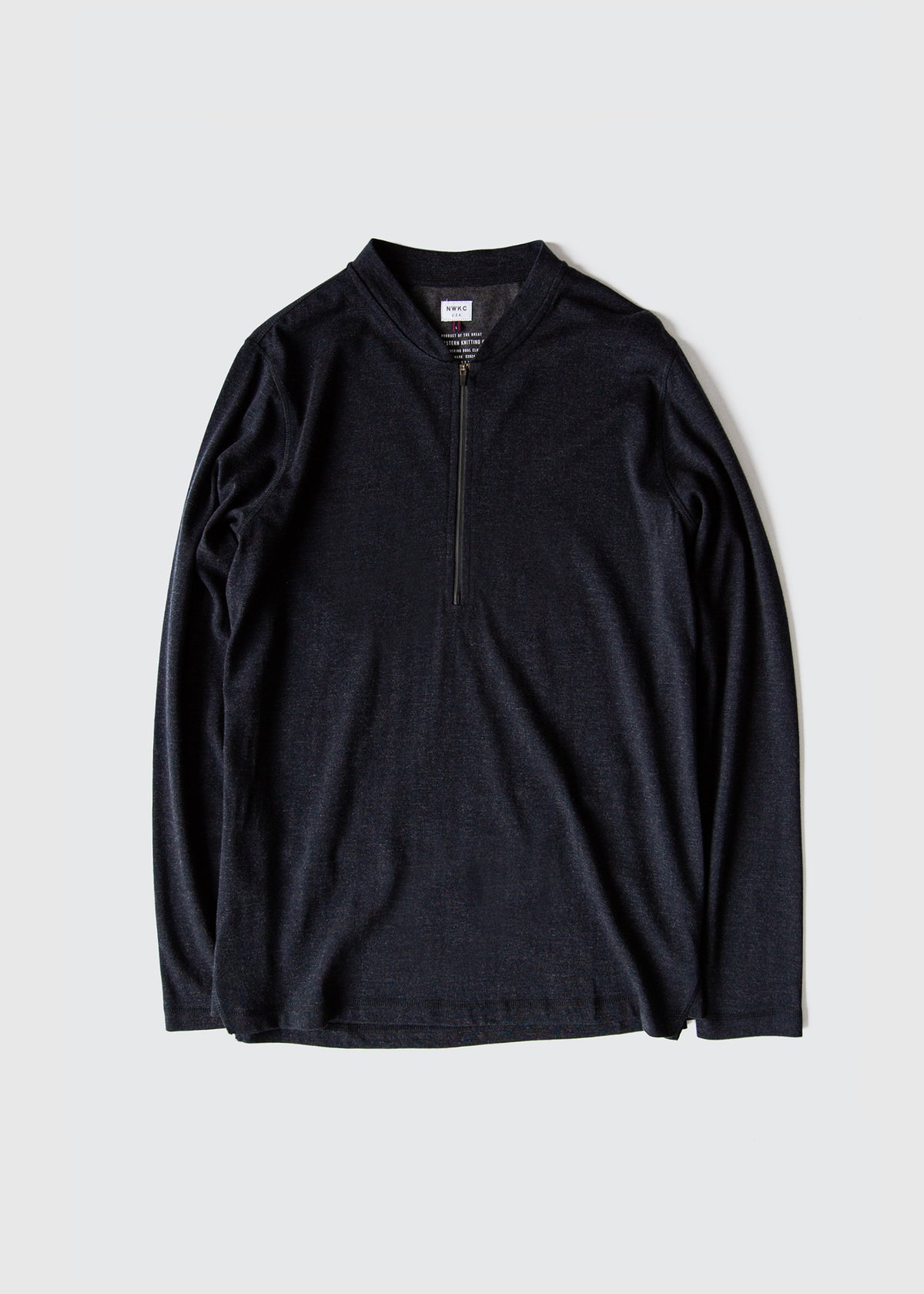 106 - 1/3 ZIP VARSITY - NAVY - Wilson & Willy's - MPLS Neighbor Goods