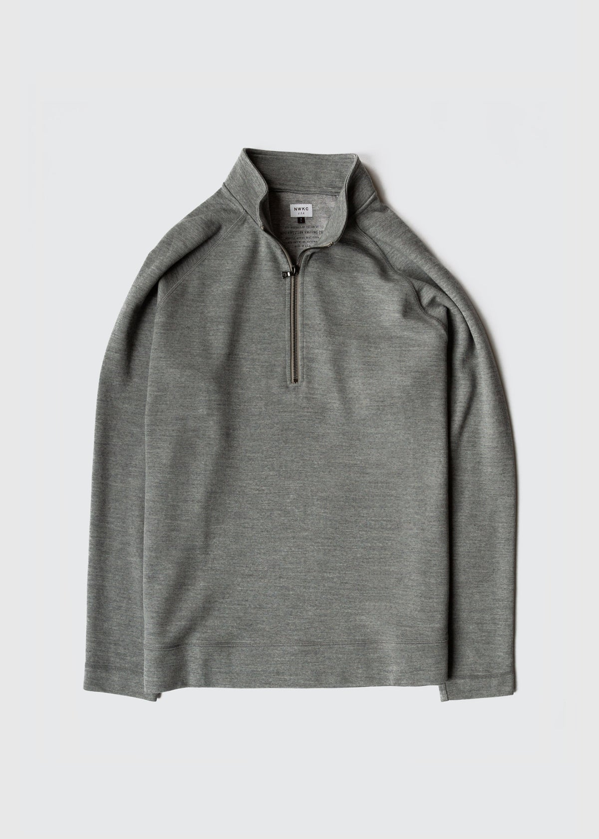 008 - 1/3 ZIP - FEATHER GRAY - Wilson & Willy's - MPLS Neighbor Goods