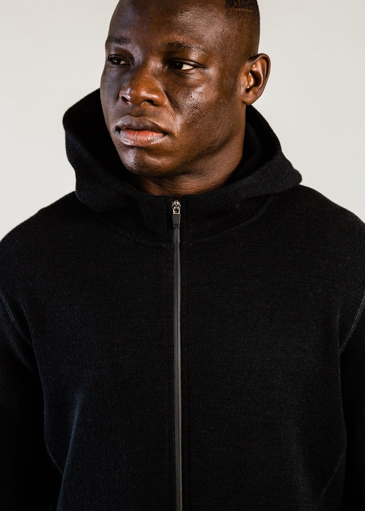 201 - NYLON HOODED ZIP - BLACK - Wilson & Willy's - MPLS Neighbor Goods