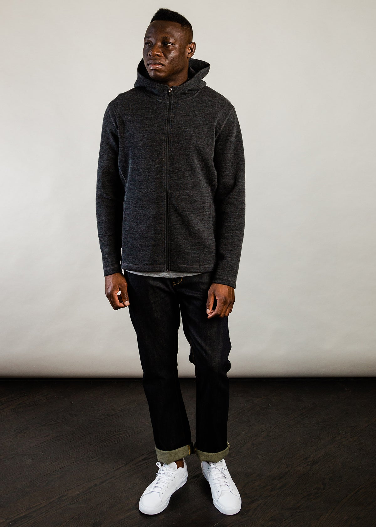 201 - NYLON HOODED ZIP - CHARCOAL - Wilson & Willy's - MPLS Neighbor Goods