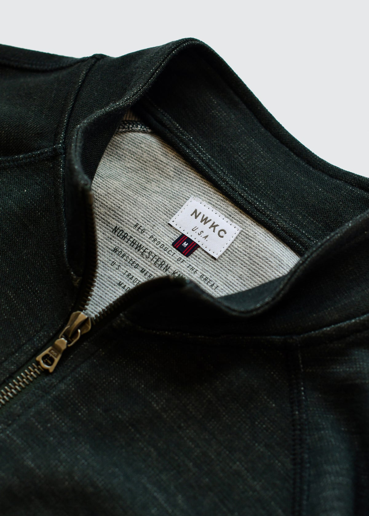 009 - SHORT COLLAR ZIP - FOREST - Wilson & Willy's - MPLS Neighbor Goods