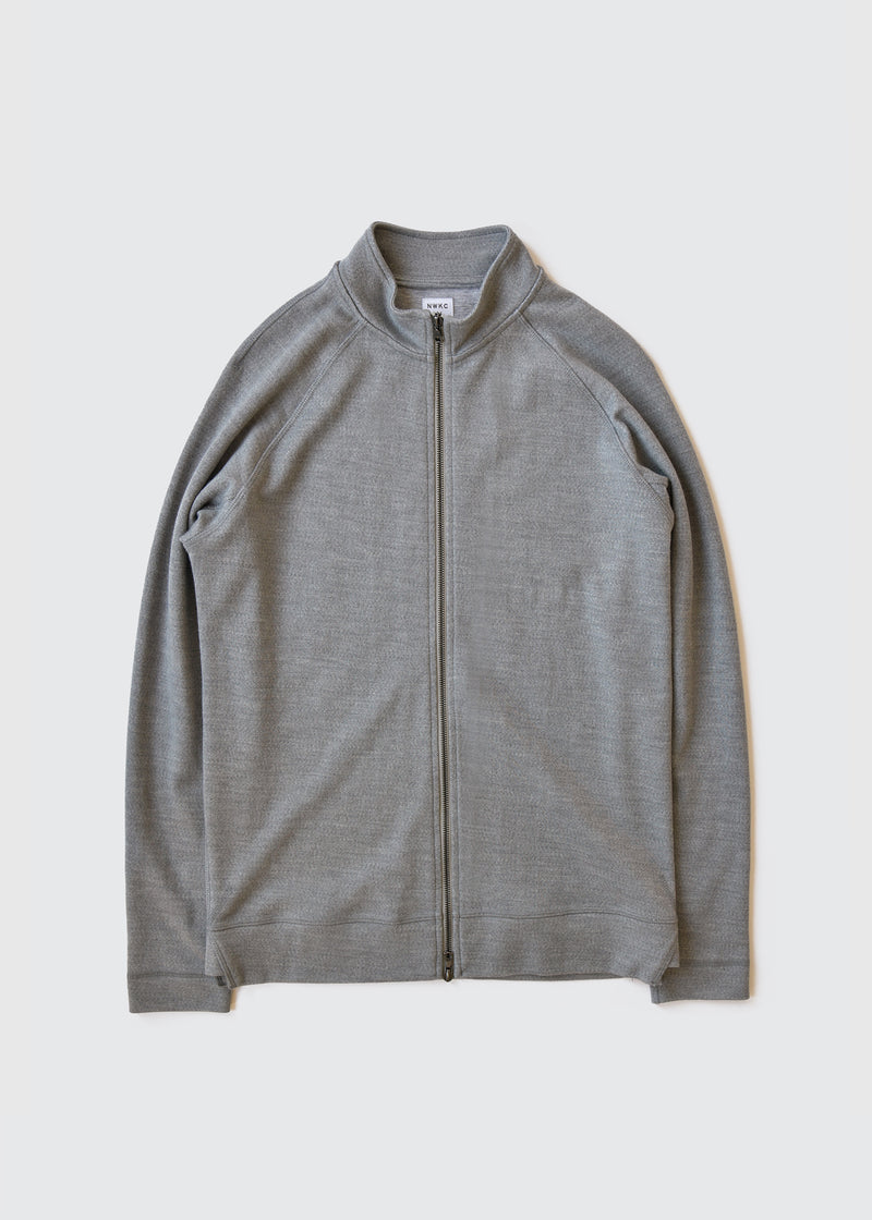009 - SHORT COLLAR ZIP - FEATHER GRAY - Wilson & Willy's - MPLS Neighbor Goods
