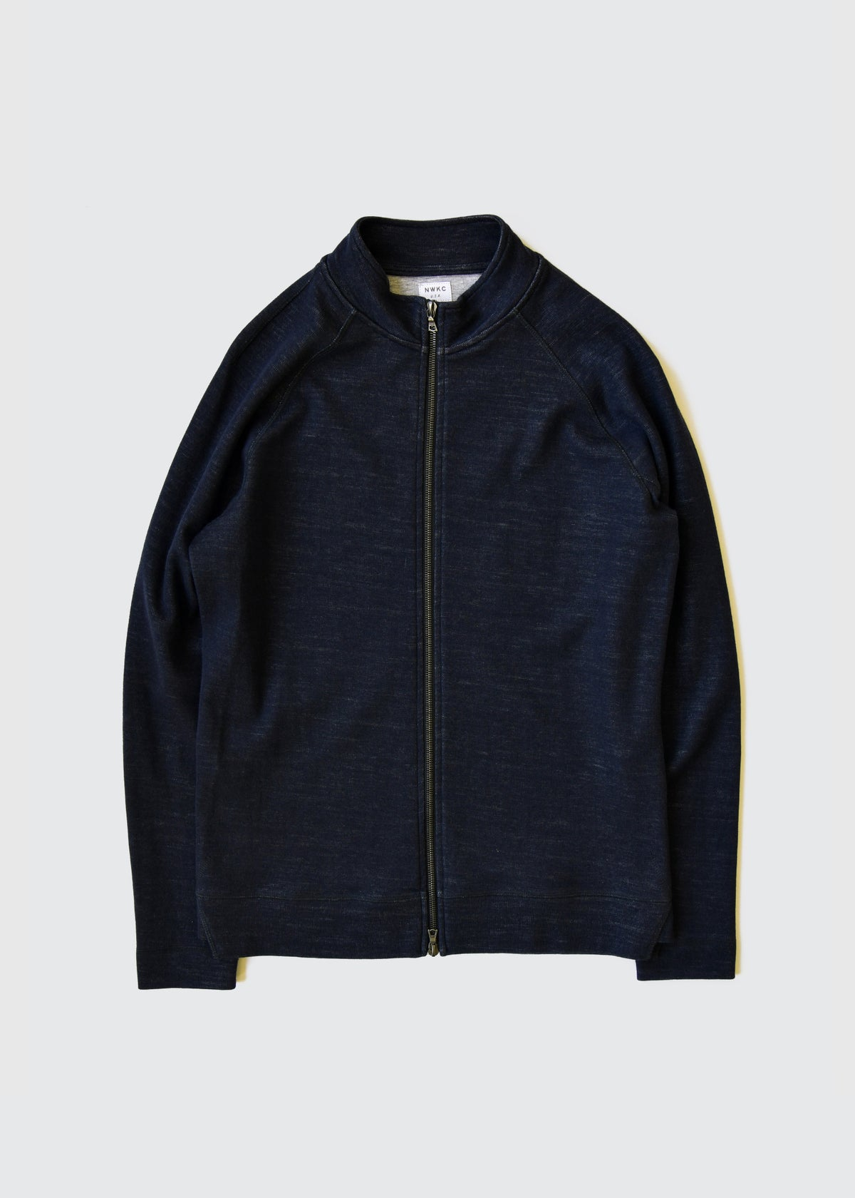 009 - SHORT COLLAR ZIP - NAVY - Wilson & Willy's - MPLS Neighbor Goods