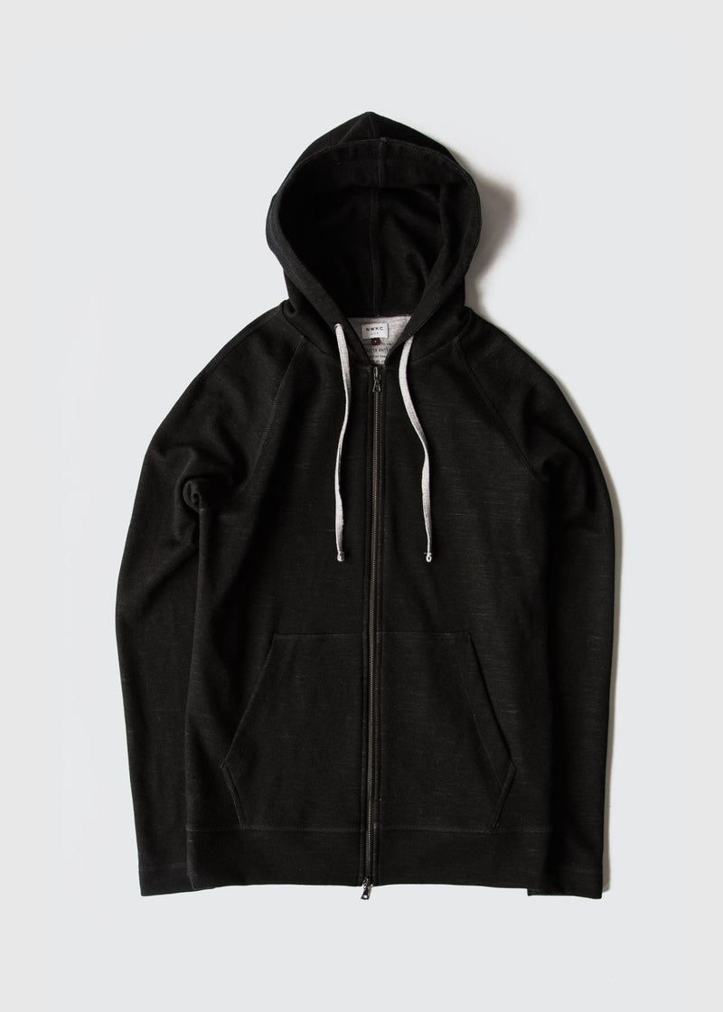 006 - HOODED ZIP - BLACK - Wilson & Willy's - MPLS Neighbor Goods
