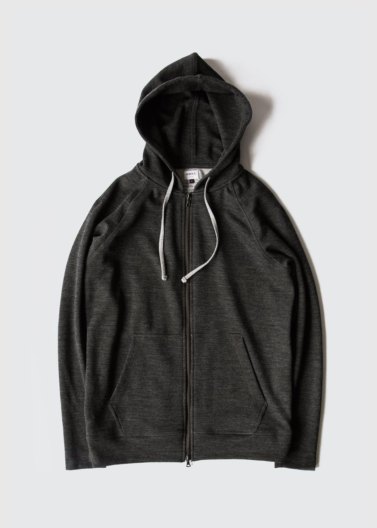 006 - HOODED ZIP - CHARCOAL - Wilson & Willy's - MPLS Neighbor Goods