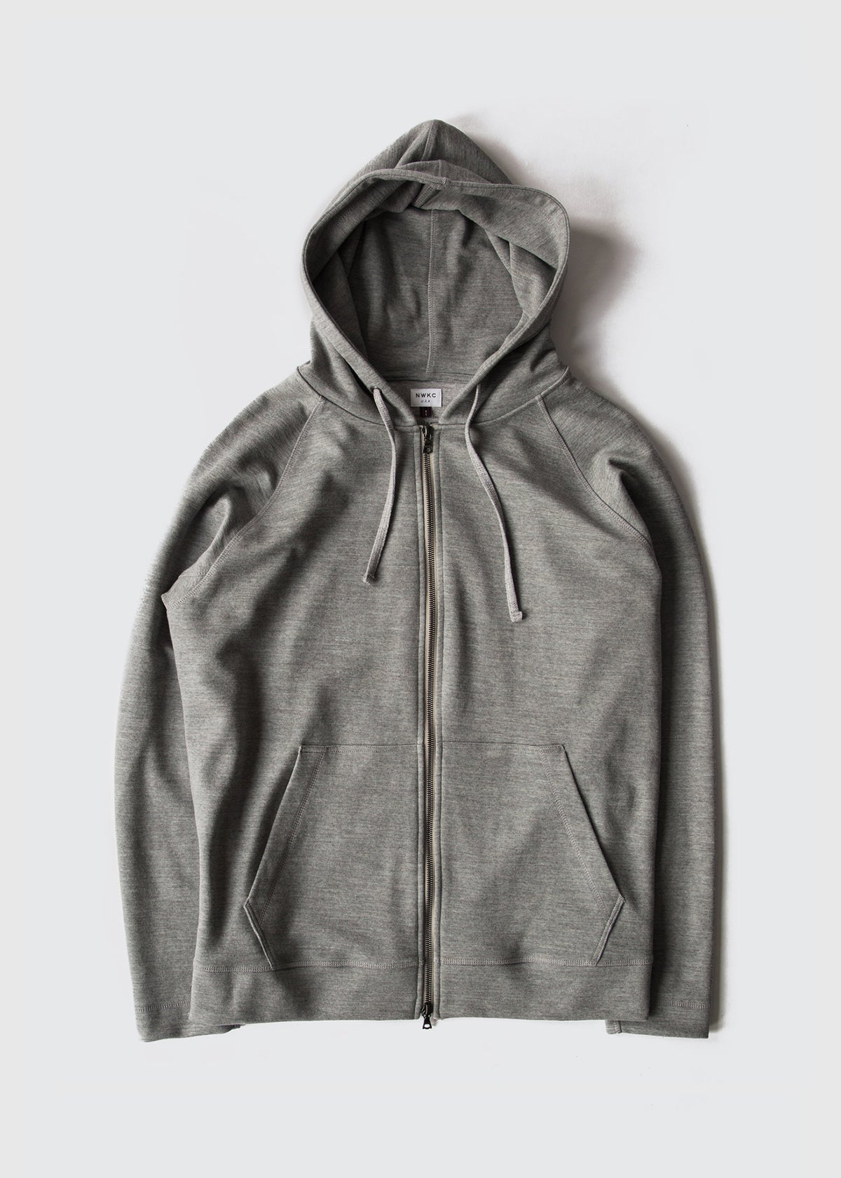 006 - HOODED ZIP - FEATHER GRAY - Wilson & Willy's - MPLS Neighbor Goods