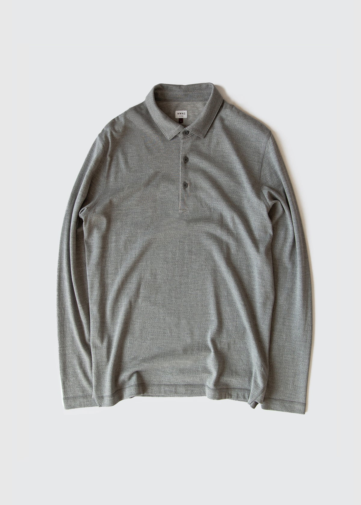 104 - LS POLO - GRAY - Wilson & Willy's - MPLS Neighbor Goods