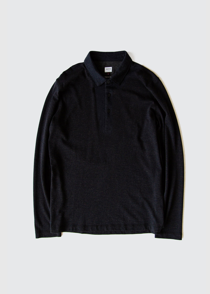 104 - LS POLO - NAVY - Wilson & Willy's - MPLS Neighbor Goods