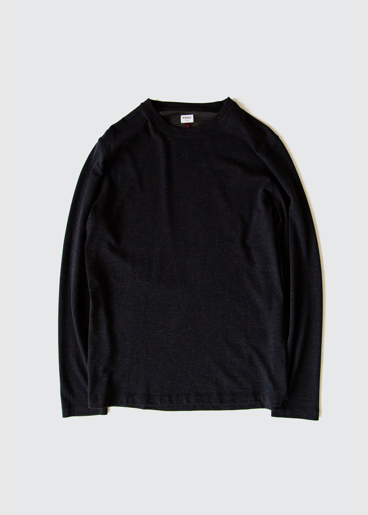 102 - LS TEE - NAVY - Wilson & Willy's - MPLS Neighbor Goods