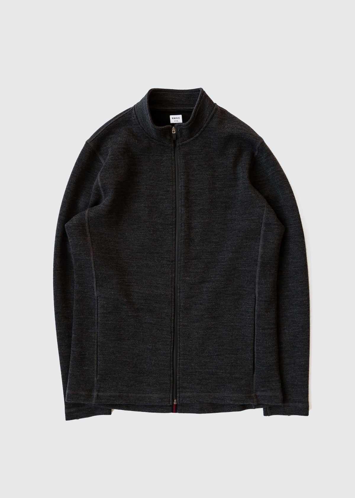 202 - NYLON COLLAR ZIP - CHARCOAL