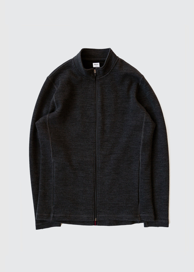 202 - NYLON COLLAR ZIP - CHARCOAL - Wilson & Willy's - MPLS Neighbor Goods