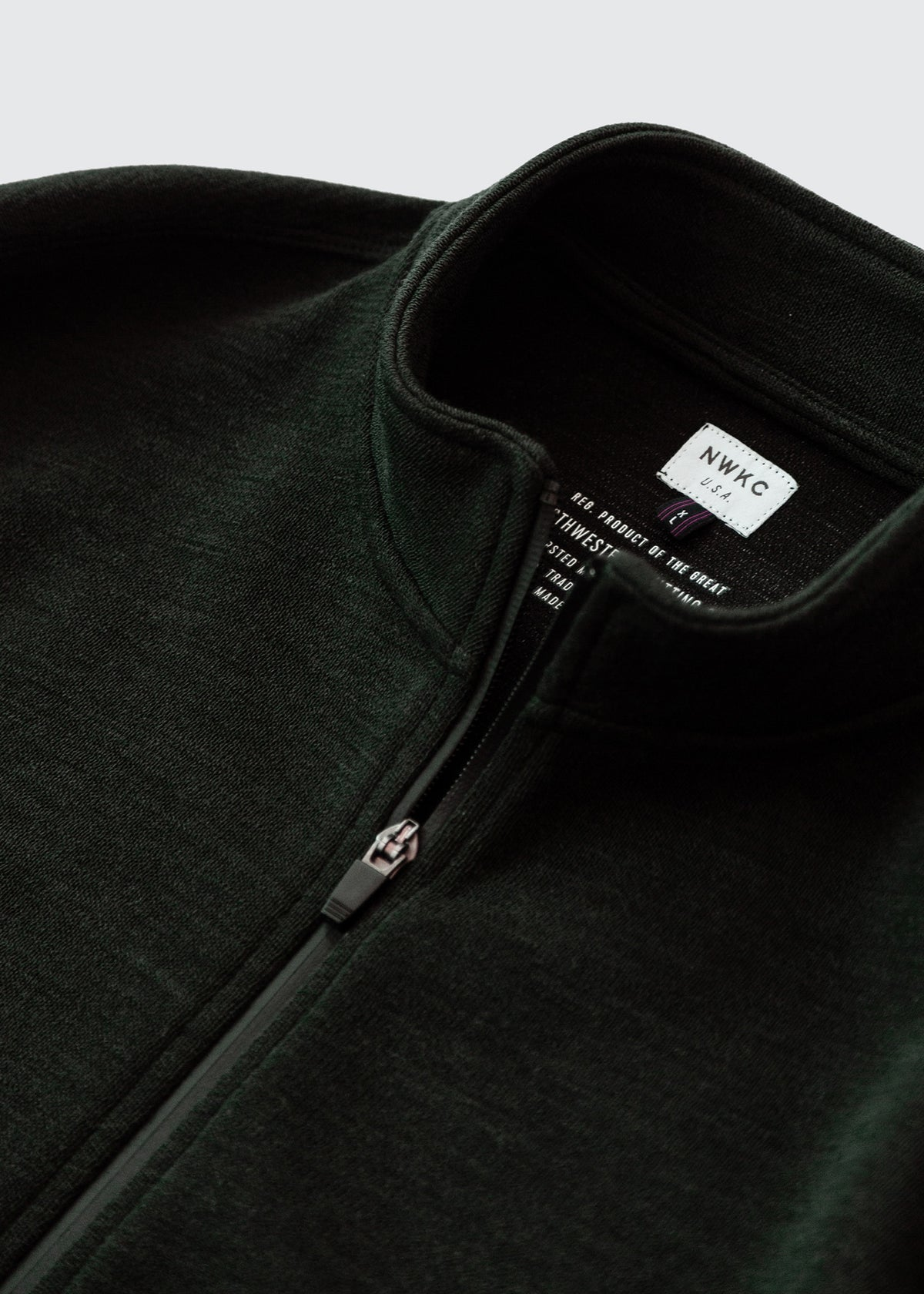 202 - NYLON COLLAR ZIP - FOREST - Wilson & Willy's - MPLS Neighbor Goods