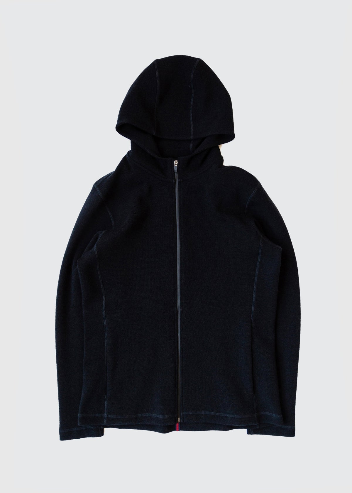 201 - NYLON HOODED ZIP - BLACK