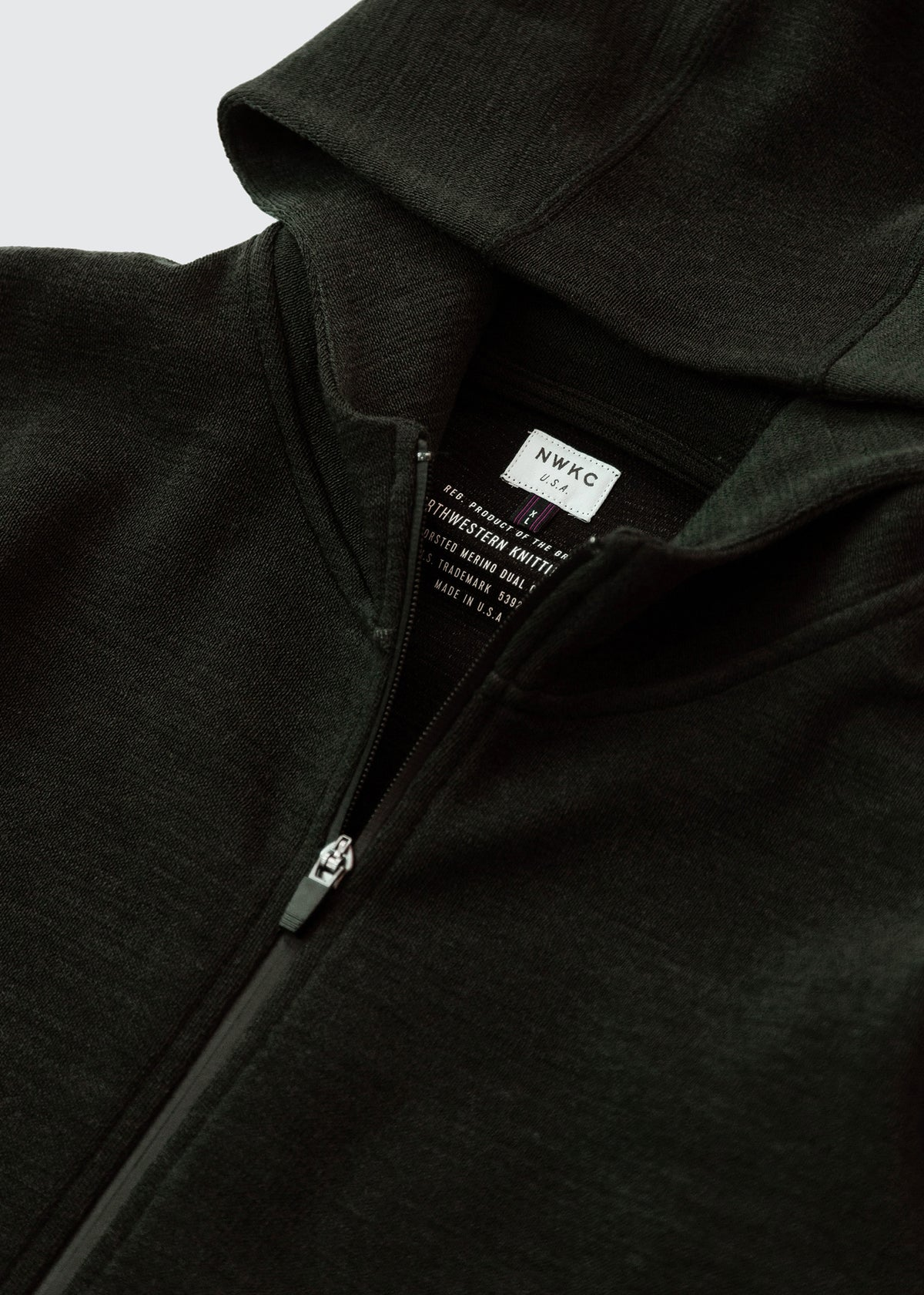 201 - NYLON HOODED ZIP - FOREST - Wilson & Willy's - MPLS Neighbor Goods