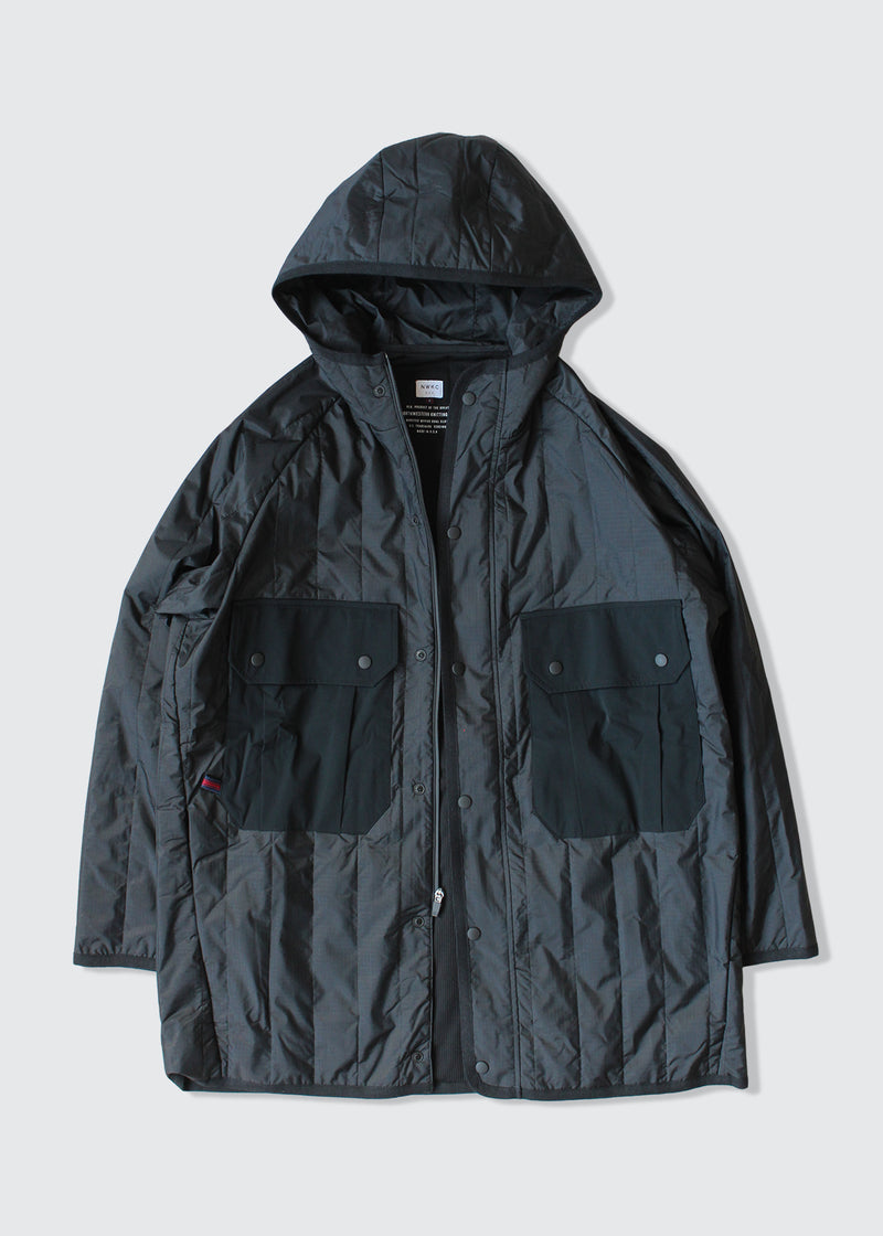 EXP002 - QUILTED RIPSTOP - BLACK