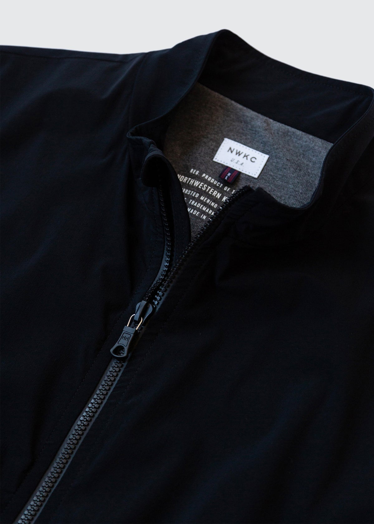 302 - QUILTED COLLAR ZIP - BLACK - Wilson & Willy's - MPLS Neighbor Goods