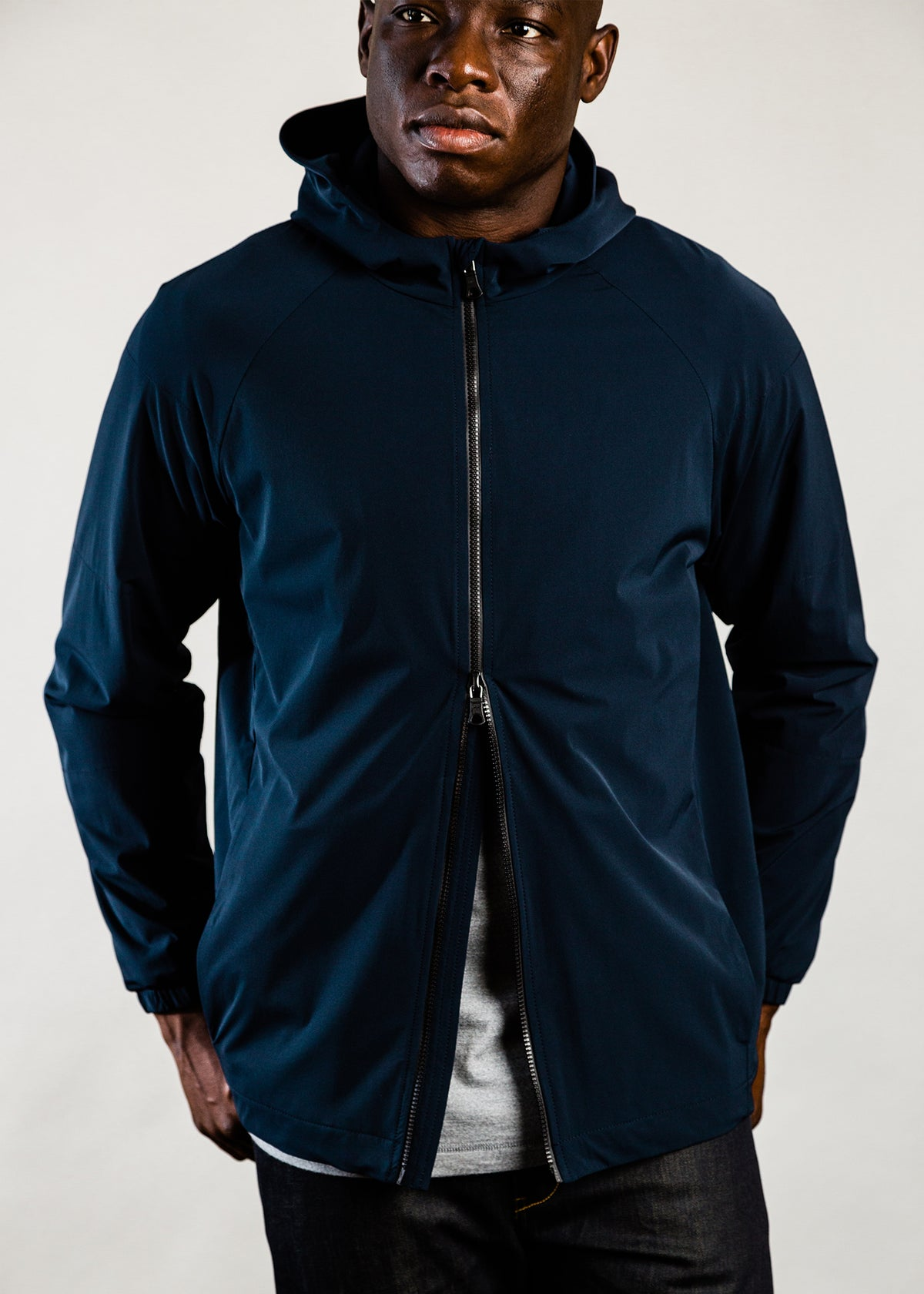 301 - QUILTED HOODED ZIP - NAVY - Wilson & Willy's - MPLS Neighbor Goods