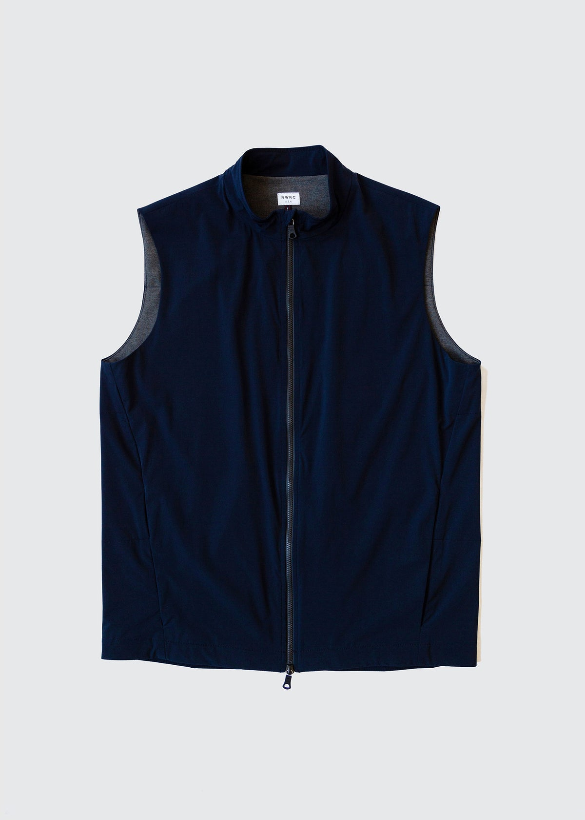 303 - QUILTED COLLAR VEST - NAVY - Wilson & Willy's - MPLS Neighbor Goods