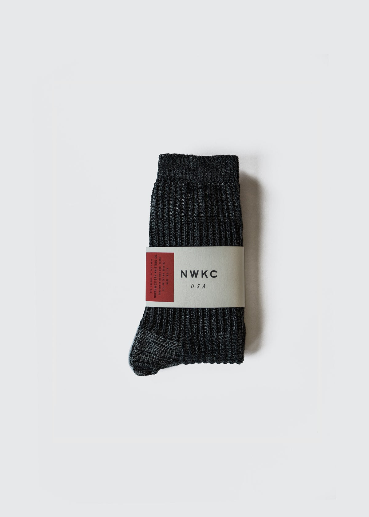 A01 - SOCK - CHARCOAL - Wilson & Willy's - MPLS Neighbor Goods