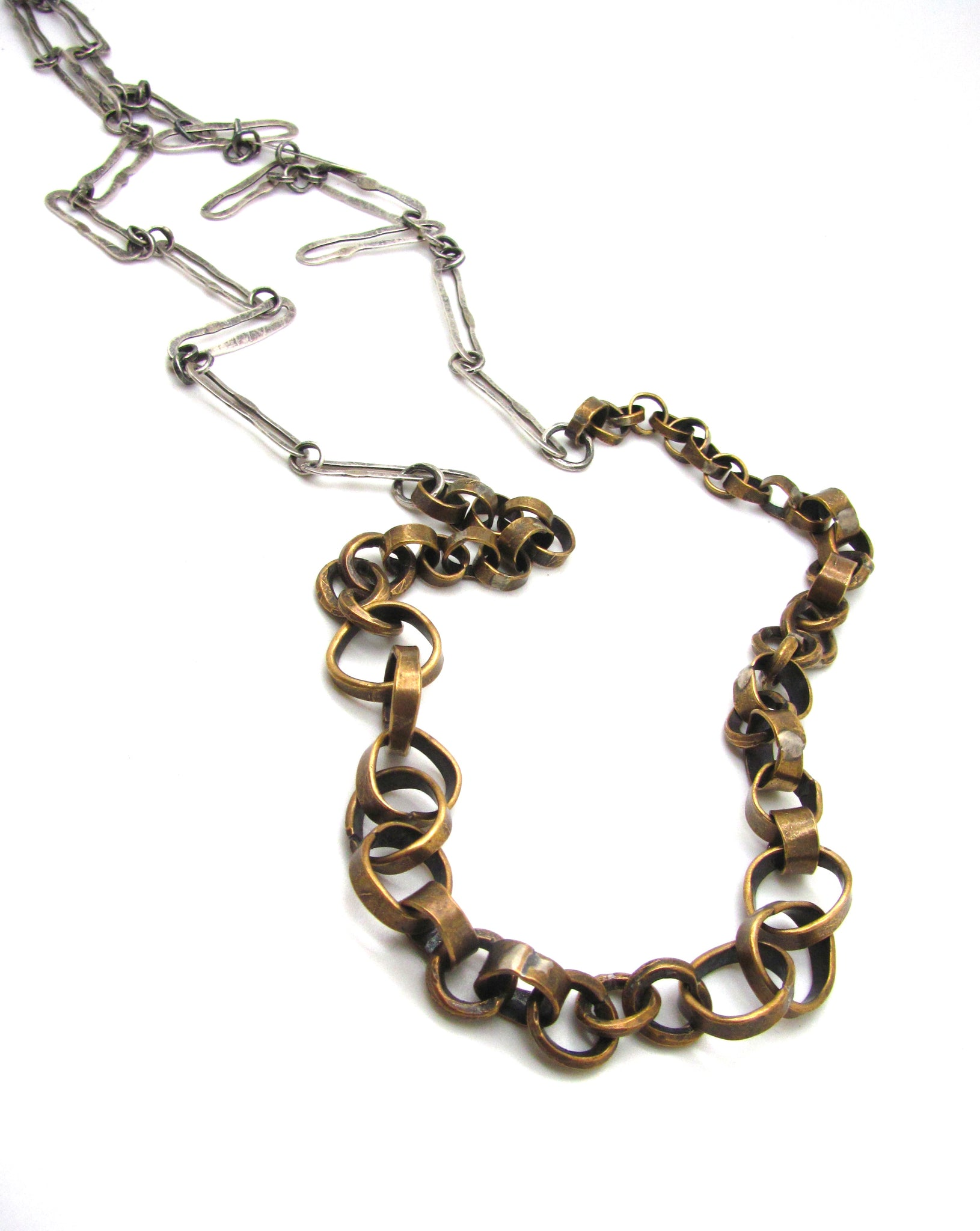 Round and Long Mixed Metals Chain