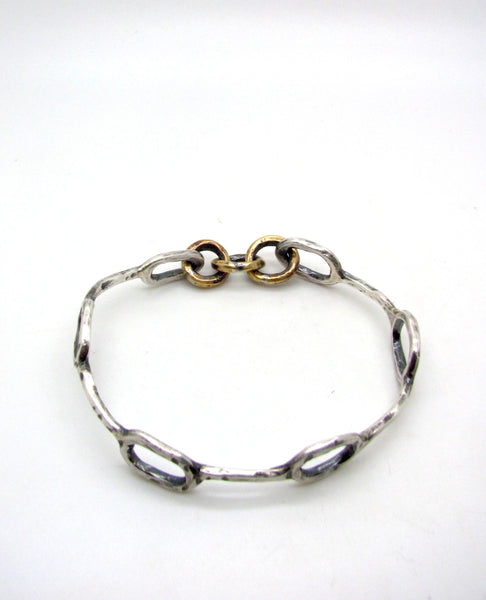 Hammered Ovals Bangle