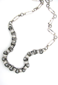 Volcanic Rolo Chain Link Necklace