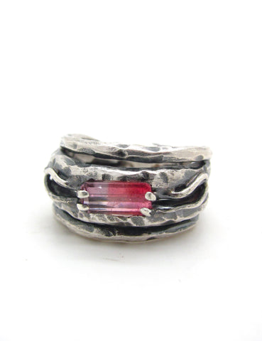 Embedded Pink Tourmaline Ring