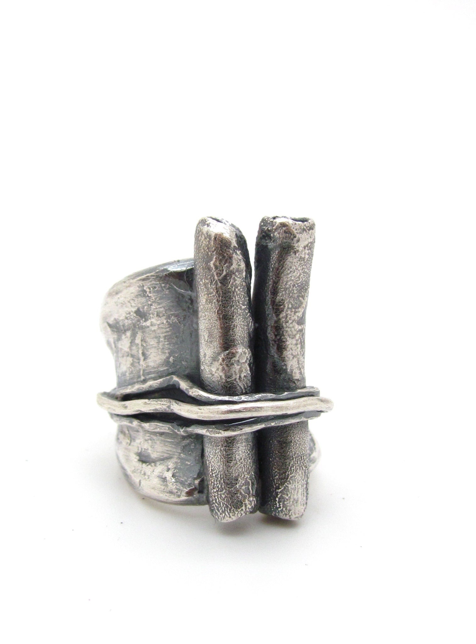 Wrapped Volcanic Tubes Ring