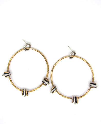 Floating Hoops on Hoops in Brass