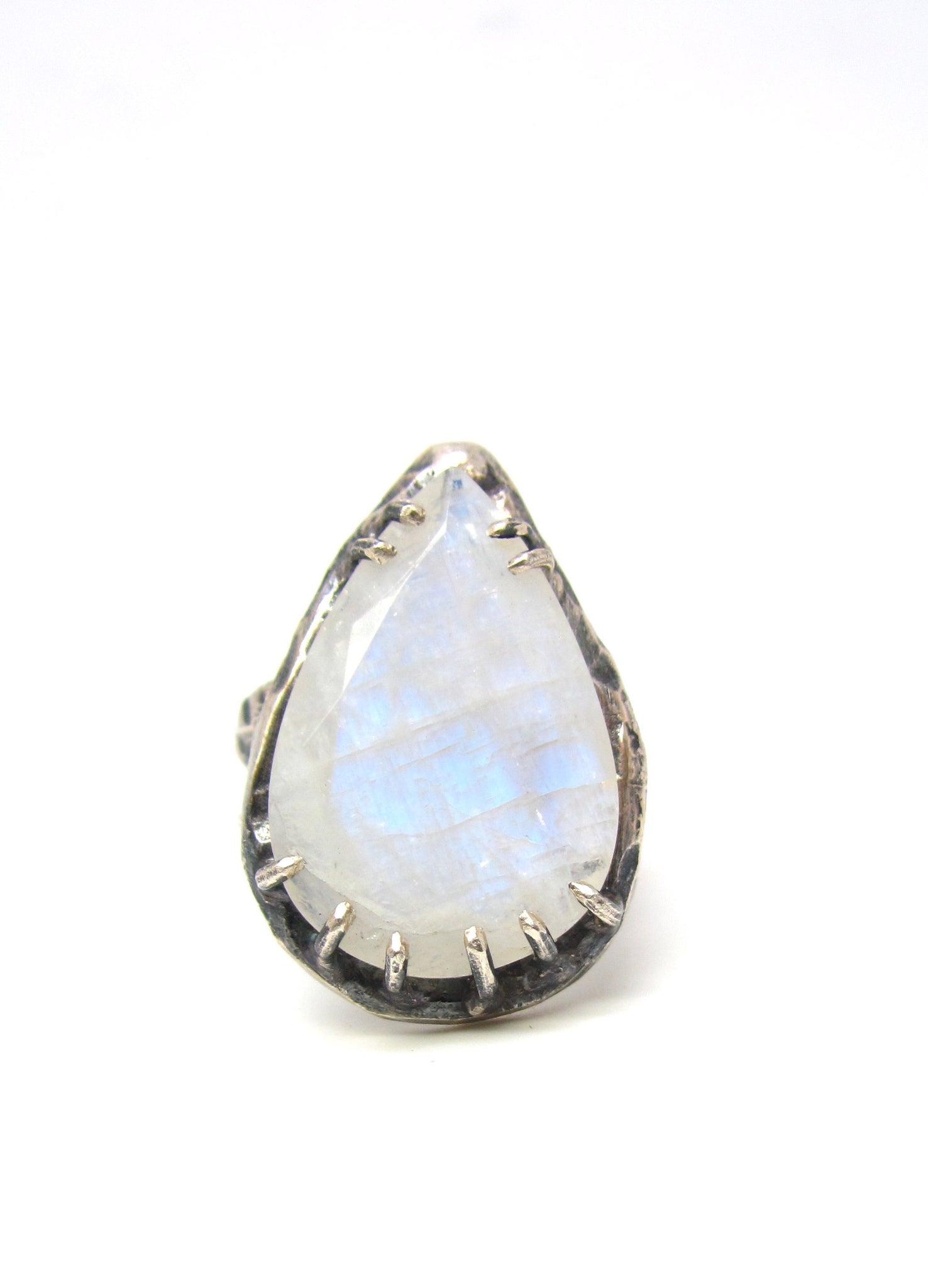 Pastel Blue Moonstone Ring