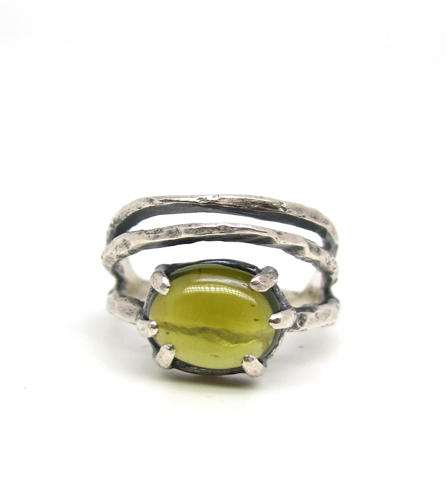 Chartreuse Tourmaline Ring