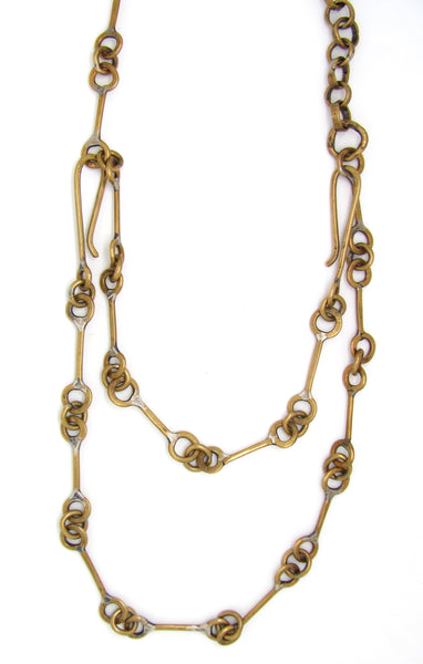 Brass Railroad and Round Link Chain