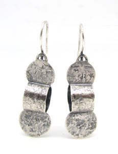 Abstract Vertebra Earrings