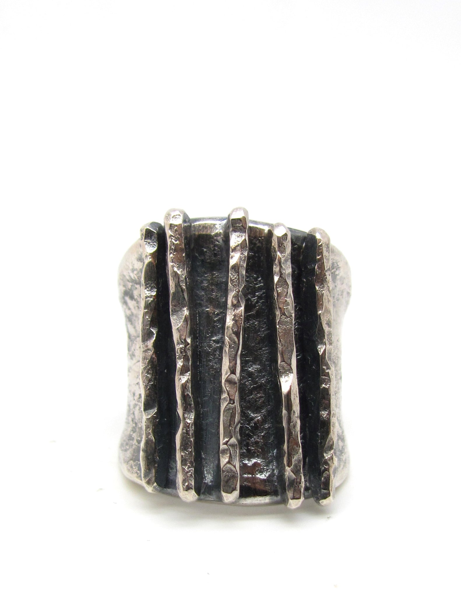 Hammered Lines Ring