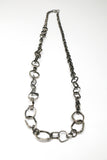 Hammered Hoops Forged Chain Necklace