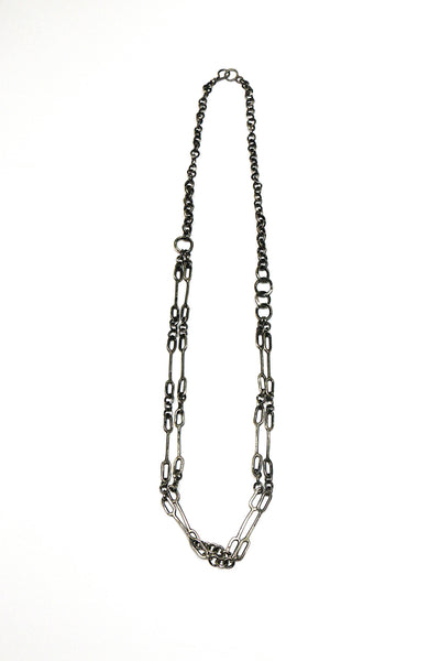 Double Silver Cactus Chain