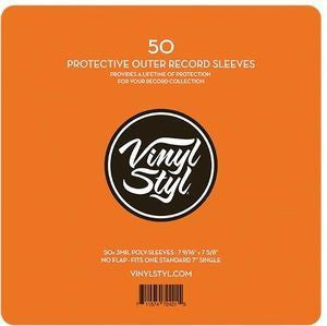 "Vinyl Styl ""50 7"" Protective Outer Record Sleeves"""