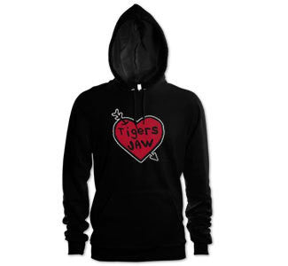 "Tigers Jaw ""Heart"" Hooded Sweatshirt"