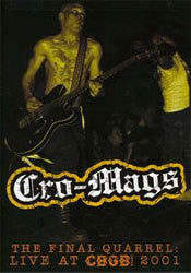 "Cro Mags ""Final Quarrel: Live at CBGB 2001"" DVD"