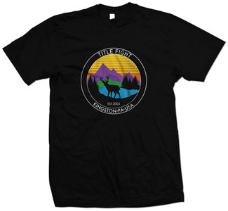 "Title Fight ""Deer"" Black T Shirt"