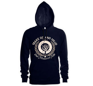 "Make Do And Mend ""End Measured Mile"" Hooded Sweatshirt"