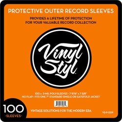 "Vinyl Styl ""100 7"" Protective Outer Record Sleeves"""