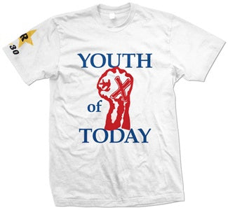 "Youth Of Today ""Fist White"" T Shirt"