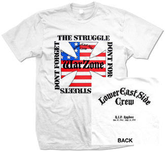 "Warzone ""Don't Forget The Struggle"" T Shirt"