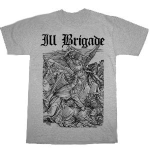 "Ill Brigade ""Battle"" Sports Grey T Shirt"