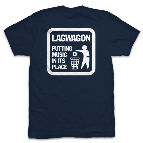 "Lagwagon ""Putting Music Navy"" T Shirt"